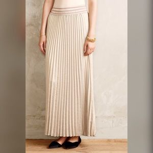 HD in Paris shimmer pleated mica maxi skirt